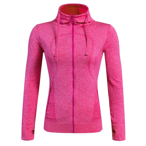 Women's Running Jacket Sports Spandex Jacket Hoodie Top Yoga Fitness Gym Workout Long Sleeve Activewear Breathable Quick Dry Stretchy Stretchy