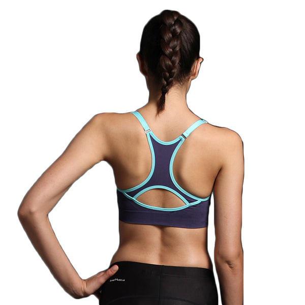 Women's Racerback Spandex Sports Bra Breathable 3D Pad Quick Dry Padded Light Support for Zumba Yoga Running Fashion Navy Blue Light Grey Rose Red / High Elasticity