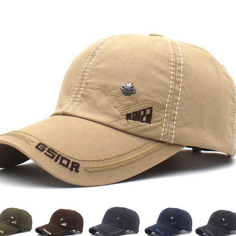 Men's Basic Polyester Baseball Cap-Solid Colored Gray Army Green Khaki