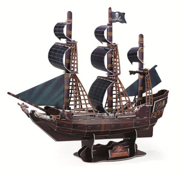 Deluxe Edition Super Big 3D Puzzle Craft The Black Pear Ship DIY 3D Three-Dimensional Puzzle Boat Model Educational Toy