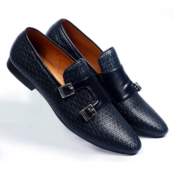 NICHE Blue Luxuriant Double Monk SLIP-ONS