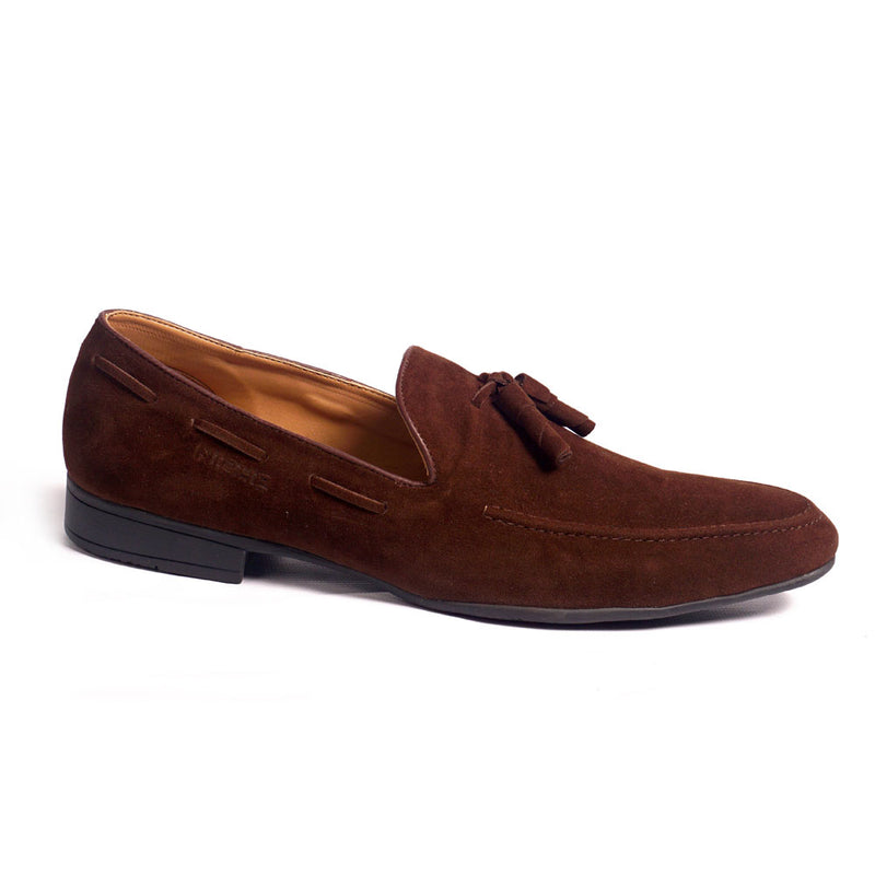 NICHE Brown Elegant Suede Tassel Loafer