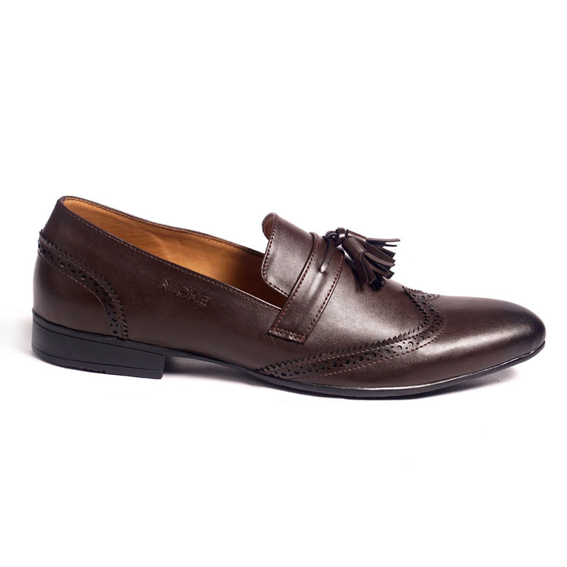 NICHE Coffee Brown Tassel Loafer