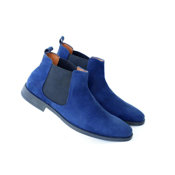 NICHE Blue Suede Chelsea Boots