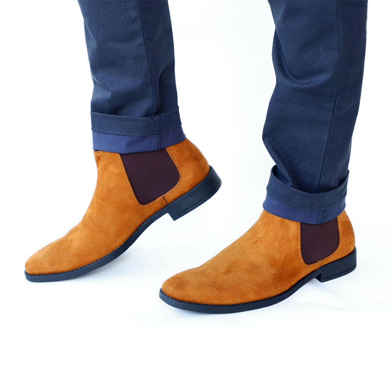 NICHE Tan Suede Chelsea Boots