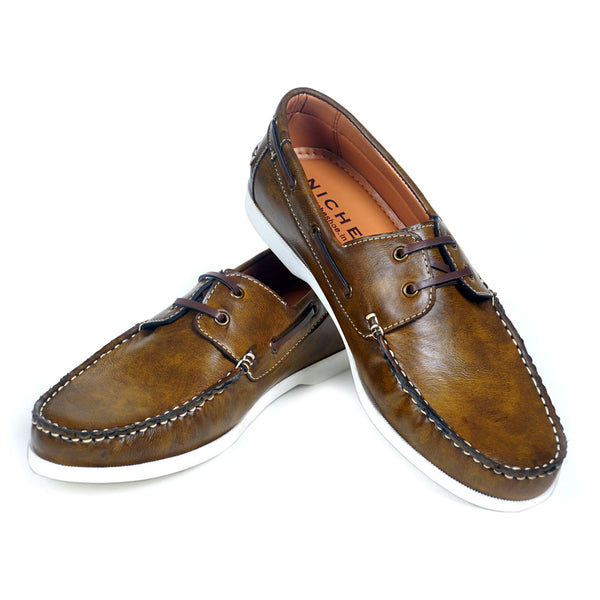 NICHE Olive Boat Shoes