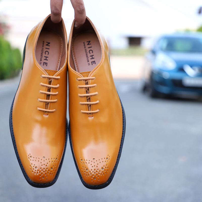 NICHE Tan Unique Wholecut Oxford