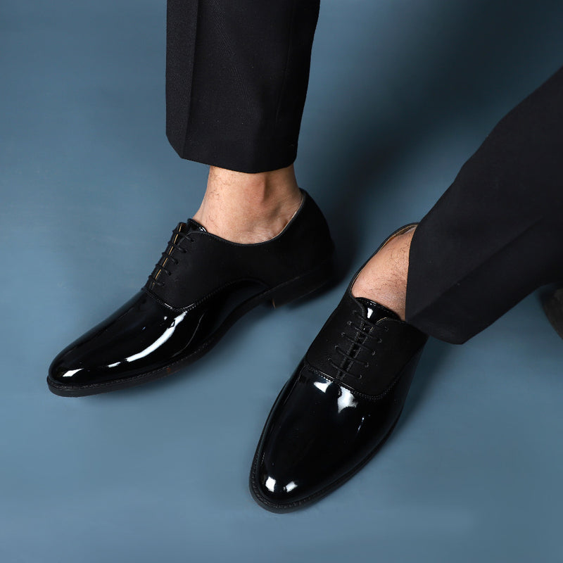 NICHE Black Patent Oxford