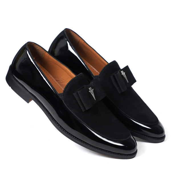 NICHE Black Patent Brooch Loafers