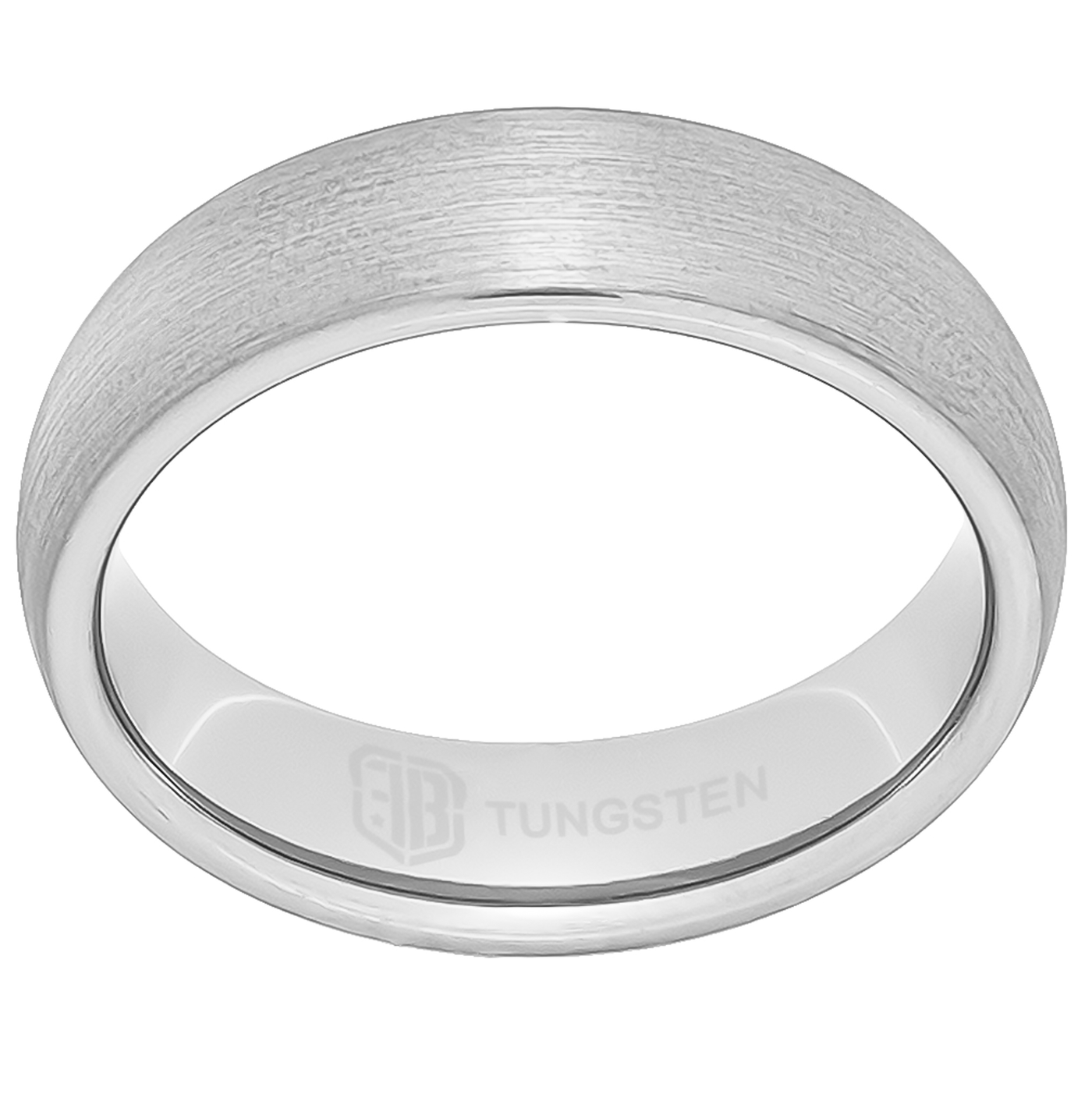 Brushed finish tungsten ring