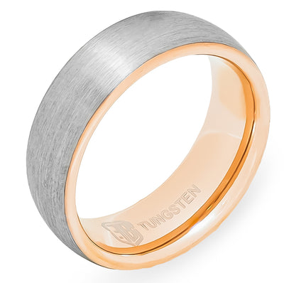 The Saga Tungsten Mens Wedding Band Foxtrot Bands