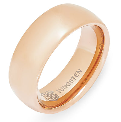 The Boss Tungsten Mens Wedding Band Foxtrot Bands