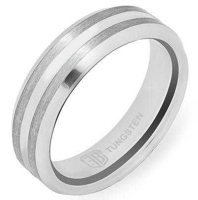 The Colonel Tungsten Mens Wedding Band Foxtrot Bands