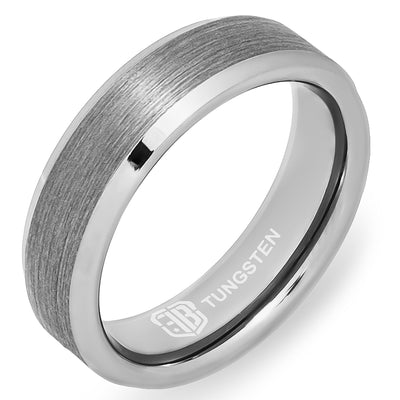 The Covert Tungsten Mens Wedding Band Foxtrot Bands