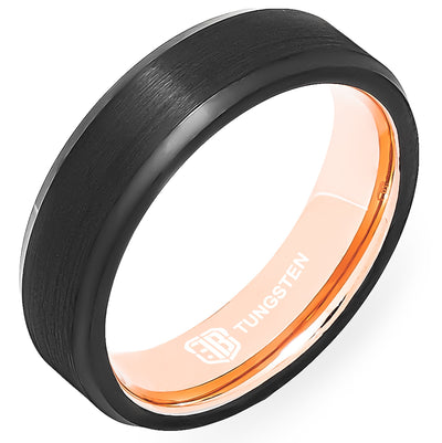 The Duke Tungsten Mens Wedding Band Foxtrot Bands