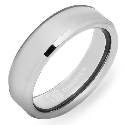 The Hanson Polished Tungsten Ring