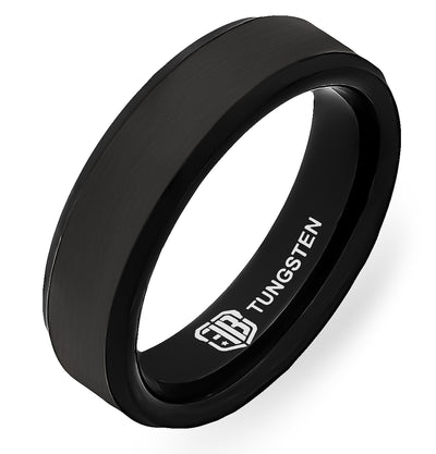 The Knight Tungsten Mens Wedding Band Foxtrot Bands