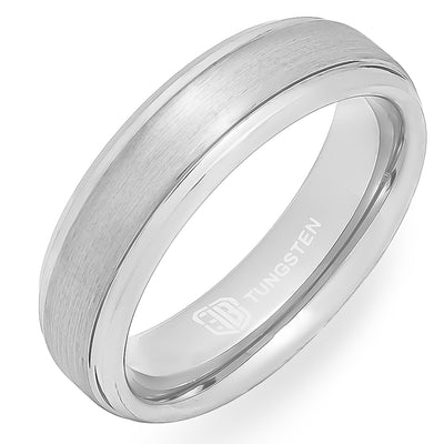 The Major Tungsten Mens Wedding Band Foxtrot Bands