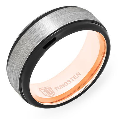 The Pulse Tungsten Mens Wedding Band Foxtrot Bands