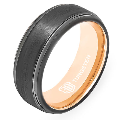 The Scout Tungsten Mens Wedding Band Foxtrot Bands