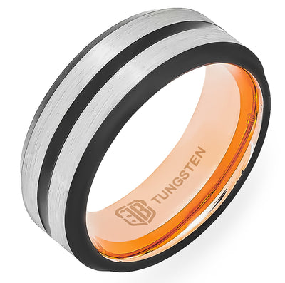 The Sergeant Tungsten Mens Wedding Band Foxtrot Bands