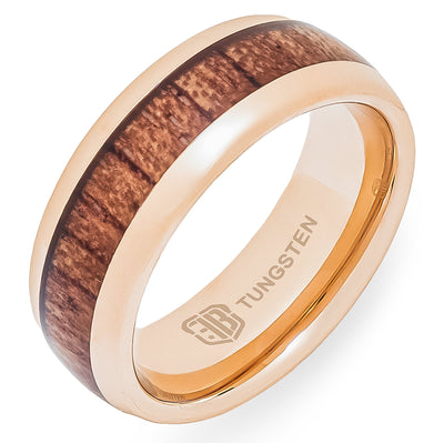 The Sierra Tungsten Mens Wedding Band Foxtrot Bands