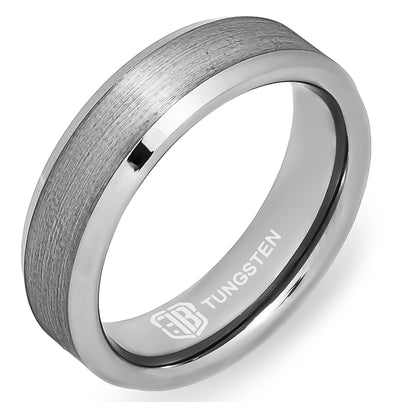 The Vintage Tungsten Mens Wedding Band Foxtrot Bands