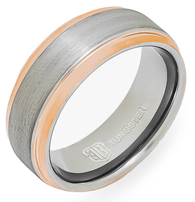 The Volt Tungsten Mens Wedding Band Foxtrot Bands