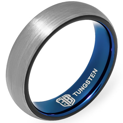 The Hybrid Tungsten Mens Wedding Band Foxtrot Bands