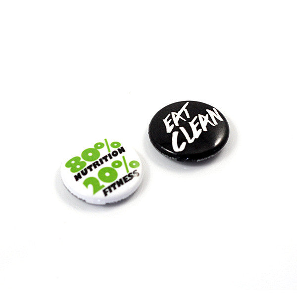 "1"" Eat Clean<br> (button pack)"