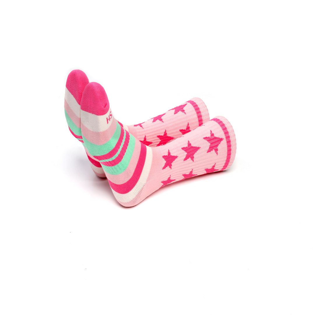 Remixed Crew Socks (Strawberry Shortcake)