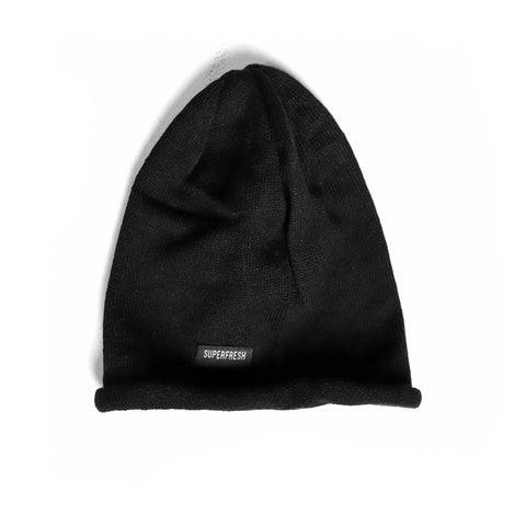 Rolled Beanie<br> (Black)<br> Medium/Large