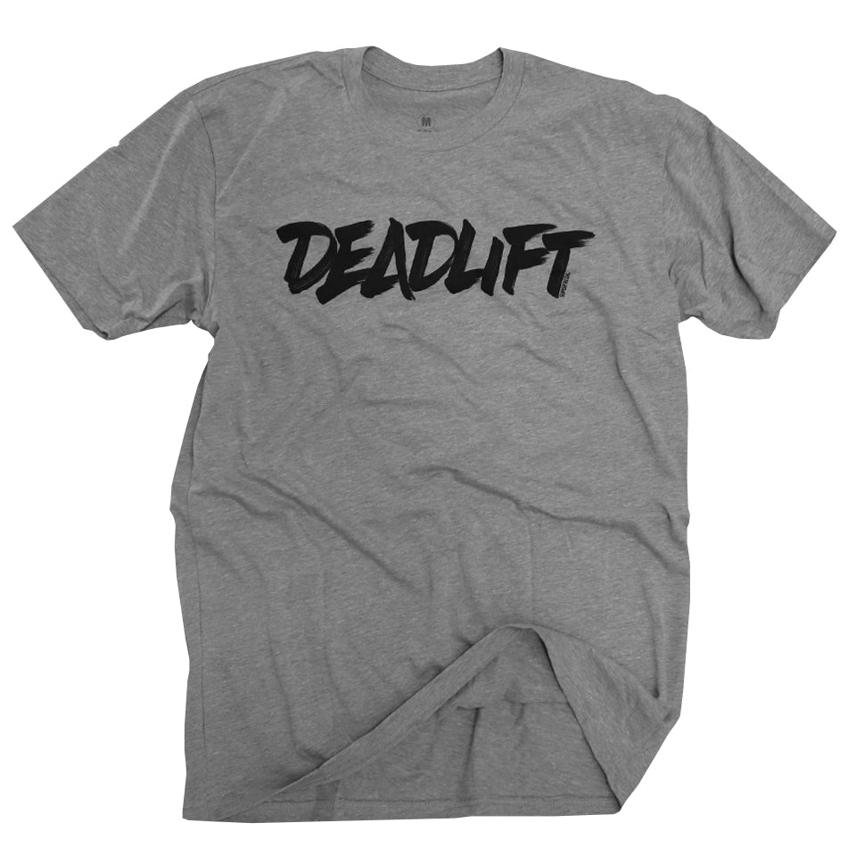 Deadlift (Type)<br> [Tee]<br> (Heather Grey)