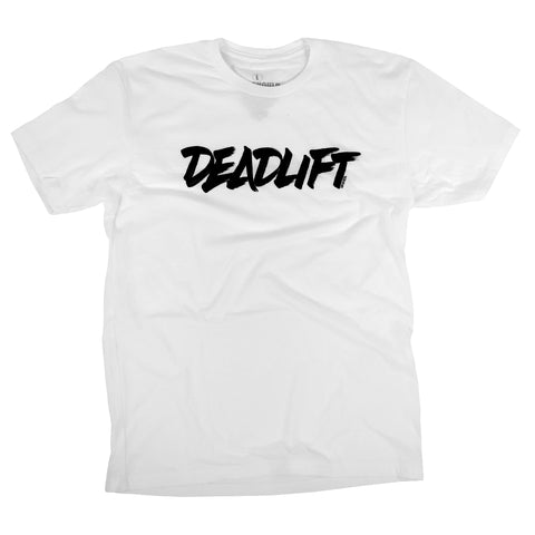 Deadlift (Type)<br> [Tee]<br> (White)