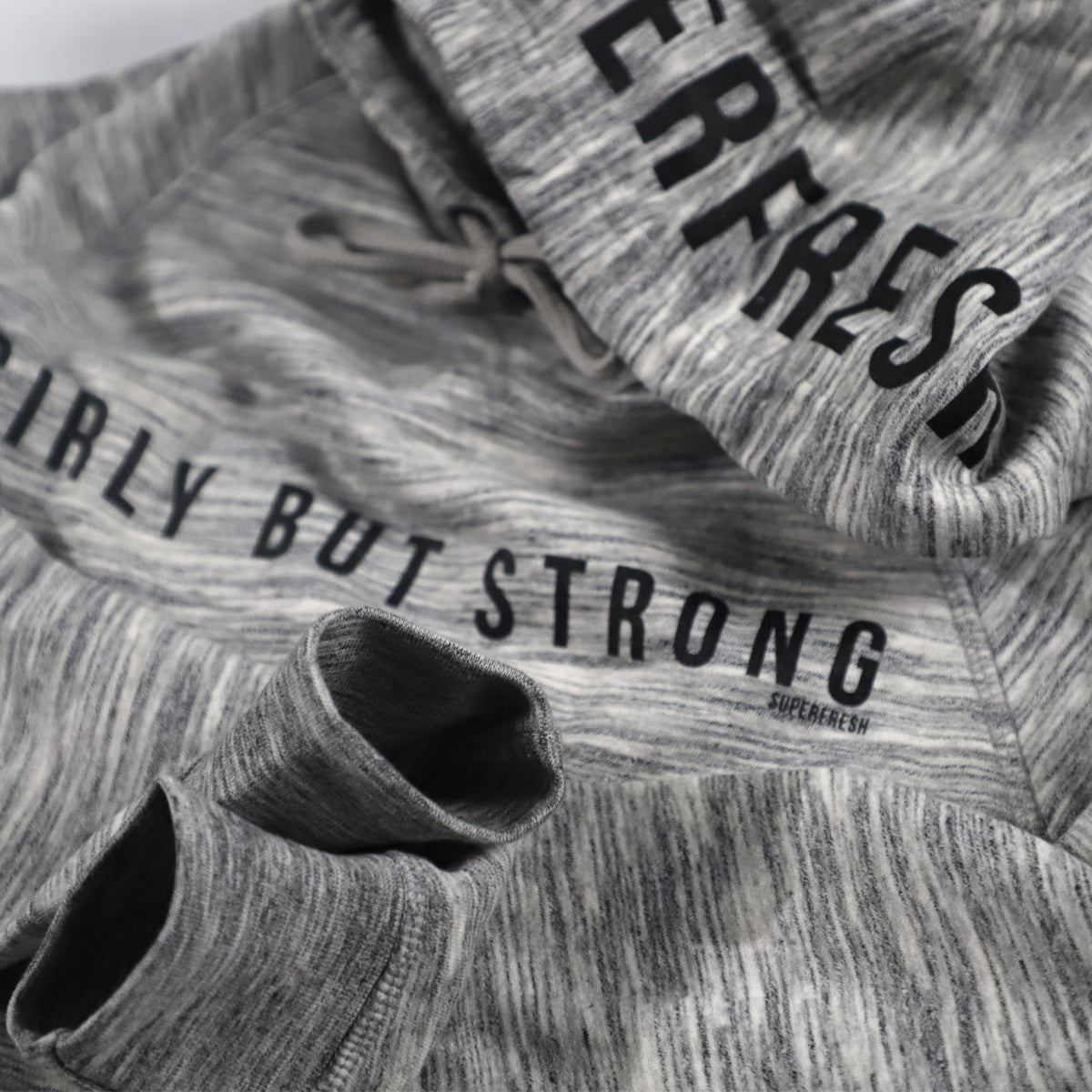 Girly But Strong<br> [Women's Crop Hoody]<br> (Grey)