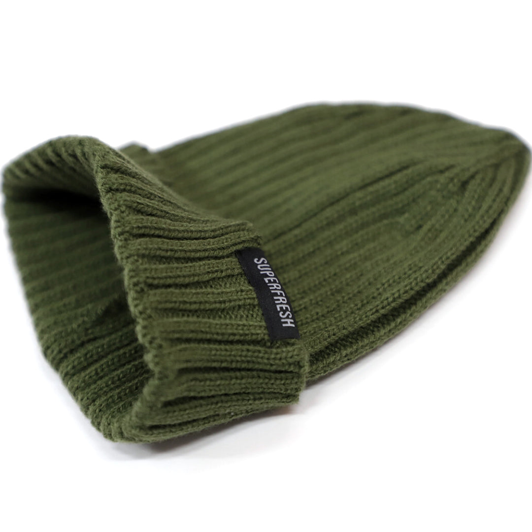 Ribbed Beanie<br> (Green)<br> Medium/Large