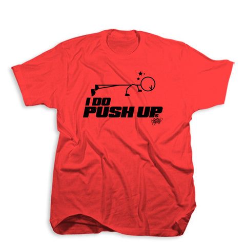 I do push ups tee<br> (red)