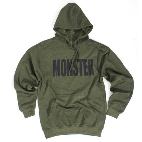 Monster hoody<br> (heather olive green)