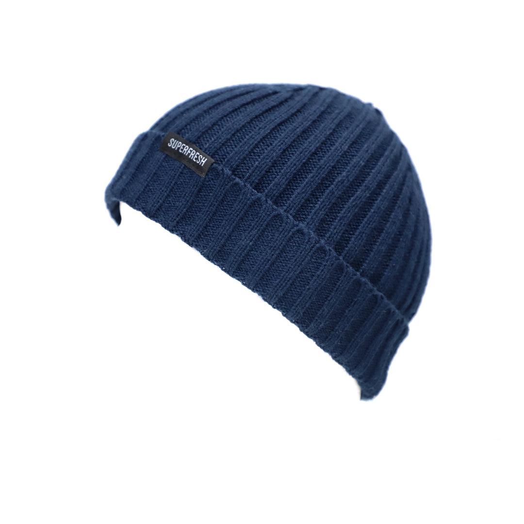 Ribbed Beanie<br> (Navy)<br> Medium/Large