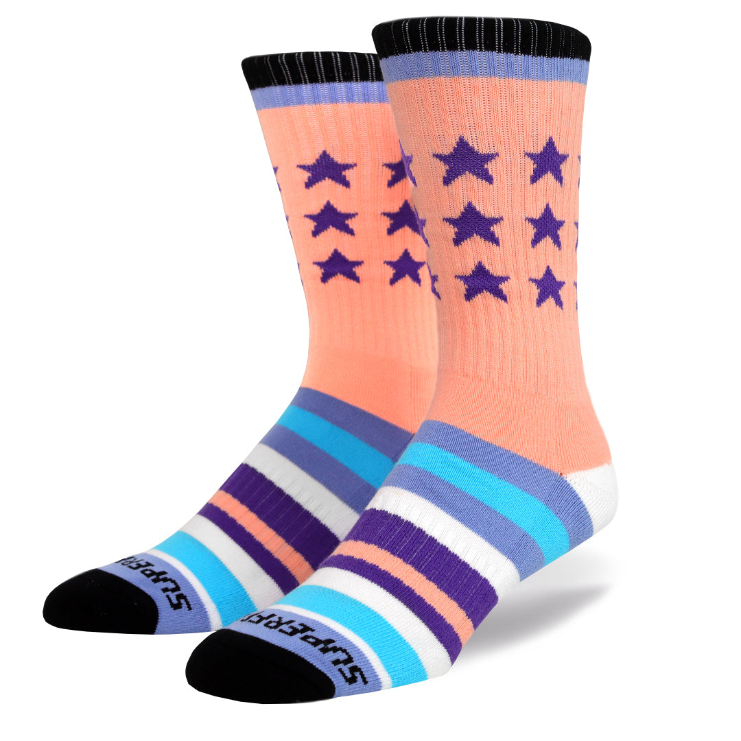 V3 Remixed Crew Socks (mauve)