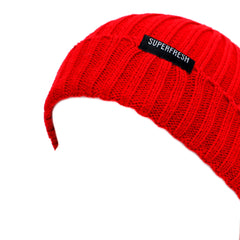 Ribbed Beanie<br> (Red)<br> (Medium/Large)