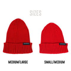 Ribbed Beanie<br> (Red)<br> (Small/Medium)