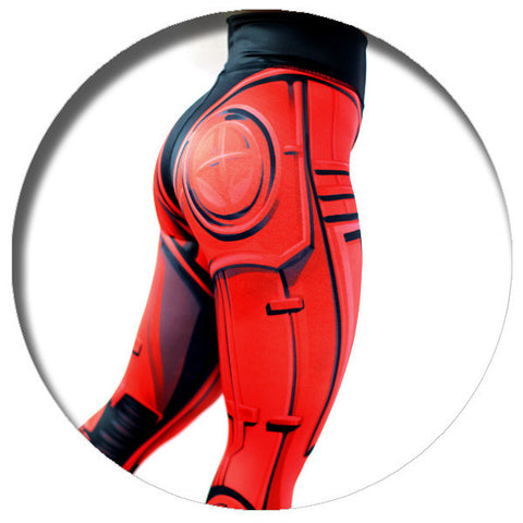 Robo Leggings (Red)