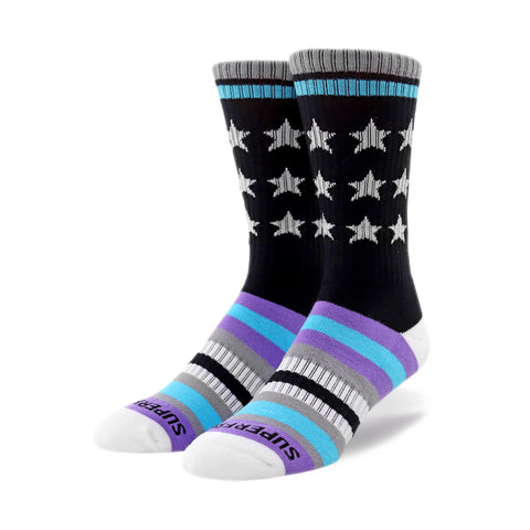 Remixed Crew Socks (purple)