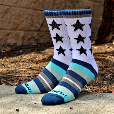 Remixed Crew Socks (Dinner Time)
