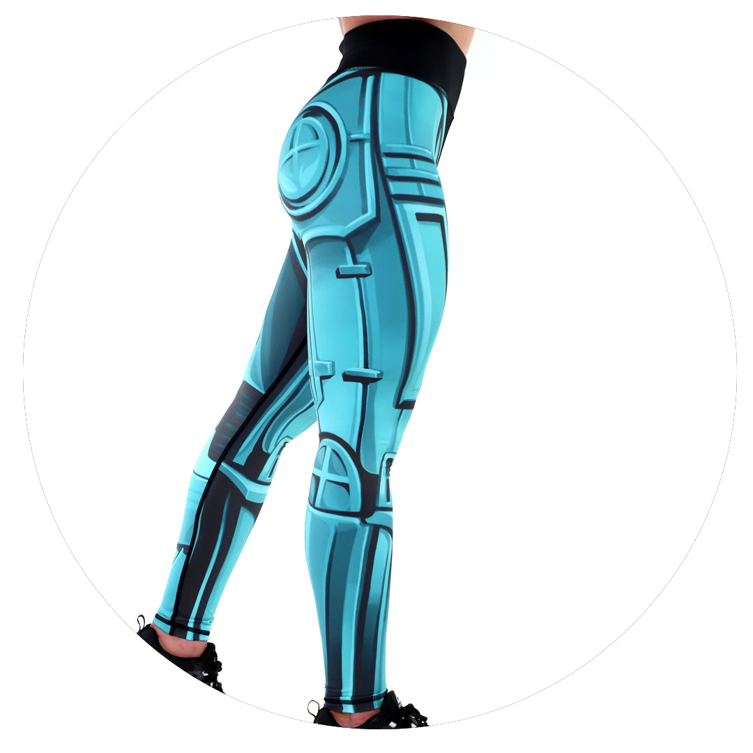 Robo Leggings (Teal)