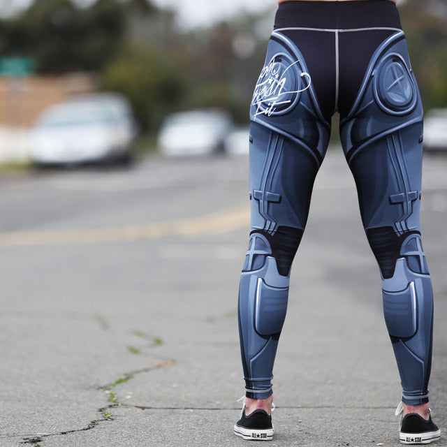 Robo Leggings (Liquid Metal)