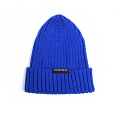 Ribbed Beanie<br> (Blue)<br> Medium/Large