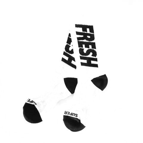 Fresh crew socks 2.0 (white/black)