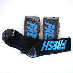 Fresh crew socks 2.0 (black/blue)